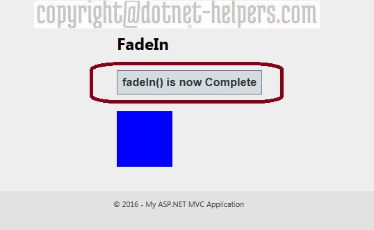 fadeIn() Effect in Jquery – Dotnet Helpers
