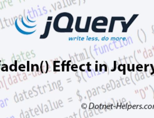 jQuery Events Handling – Dotnet Helpers
