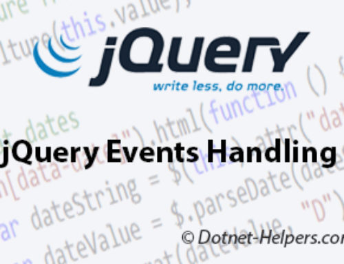 jQuery Events Handling