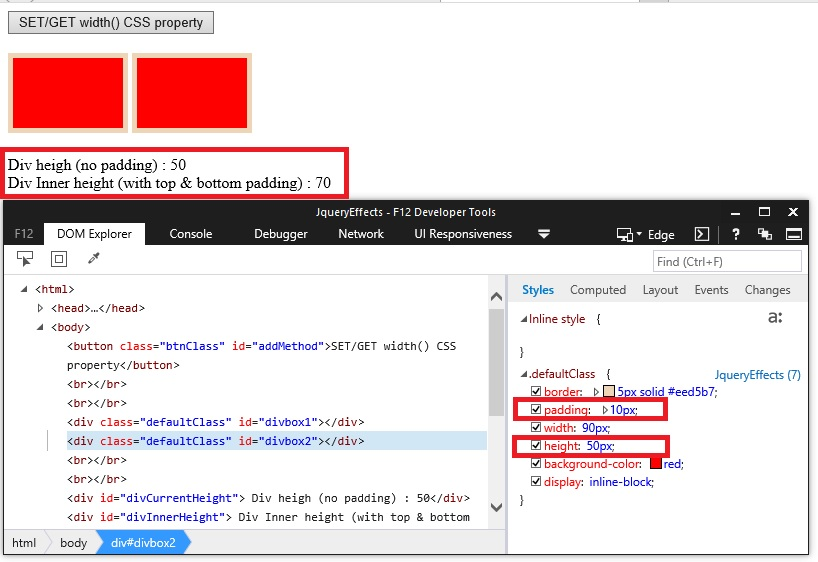 InnerHeight() method in Jquery – Dotnet Helpers